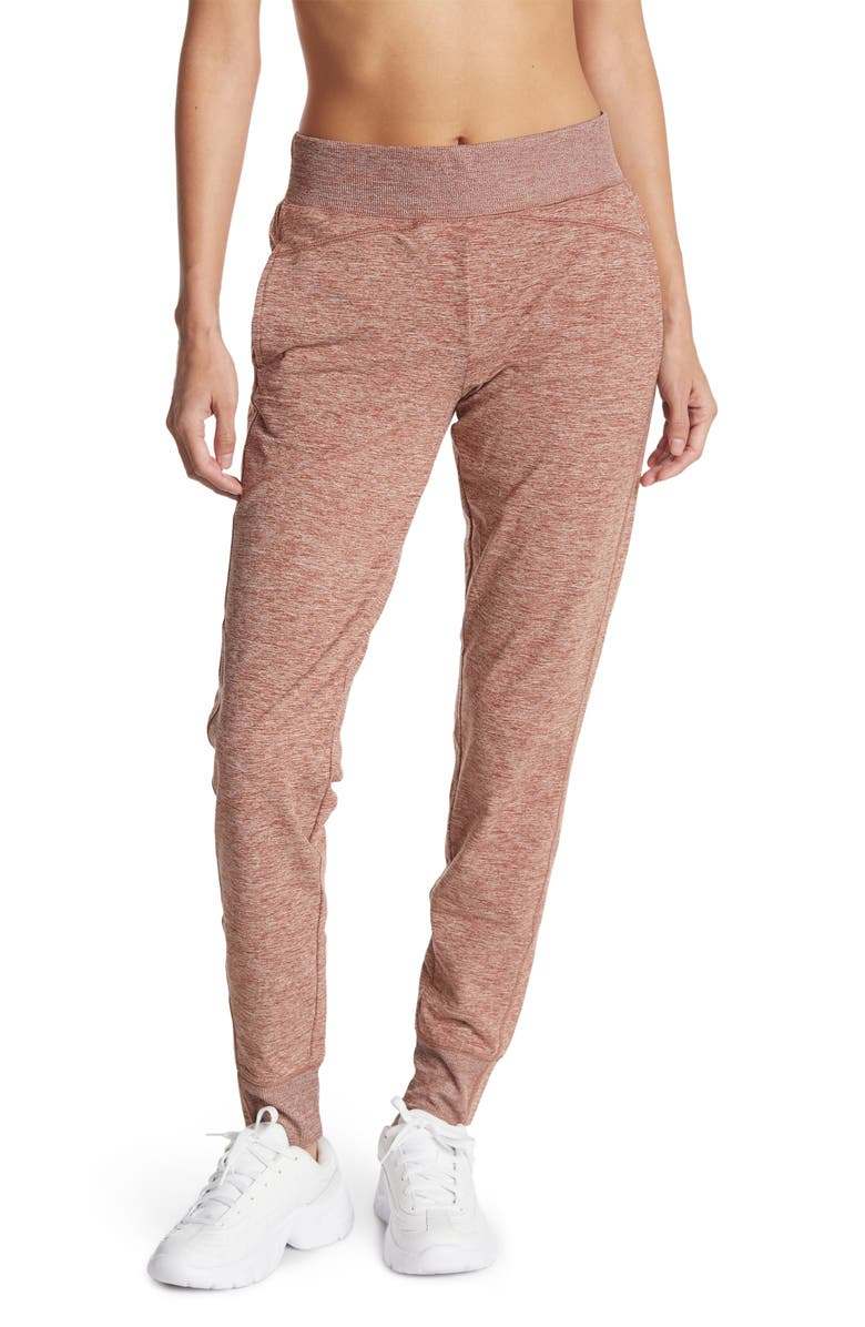 Z BY ZELLA Downtown Joggers, Main, color, RUST CHERRY