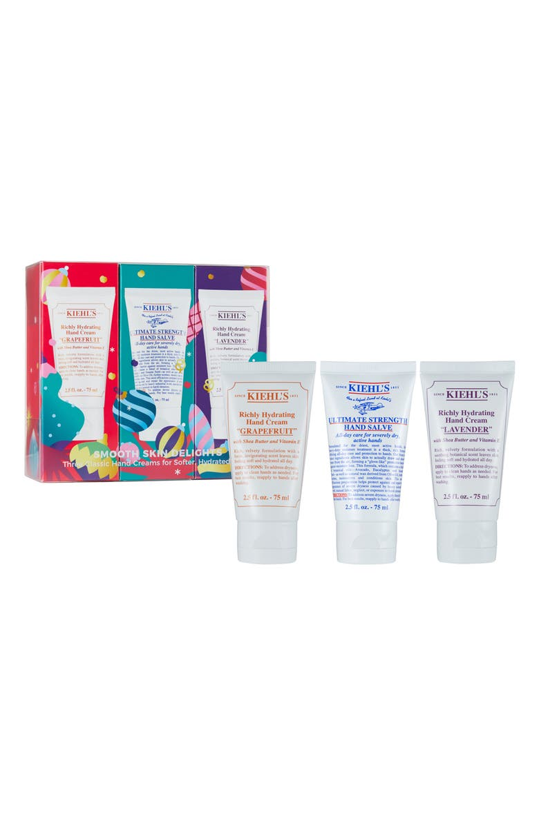 KIEHL'S SINCE 1851 Smooth Skin Delights Travel Size Richly Hydrating Hand Cream Trio, Main, color, 000
