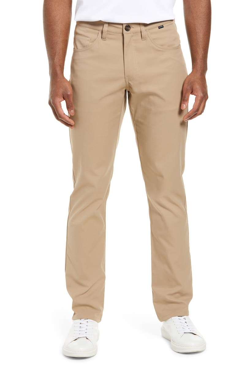 TRAVISMATHEW Level Up Slim Fit Pants, Main, color, KHAKI