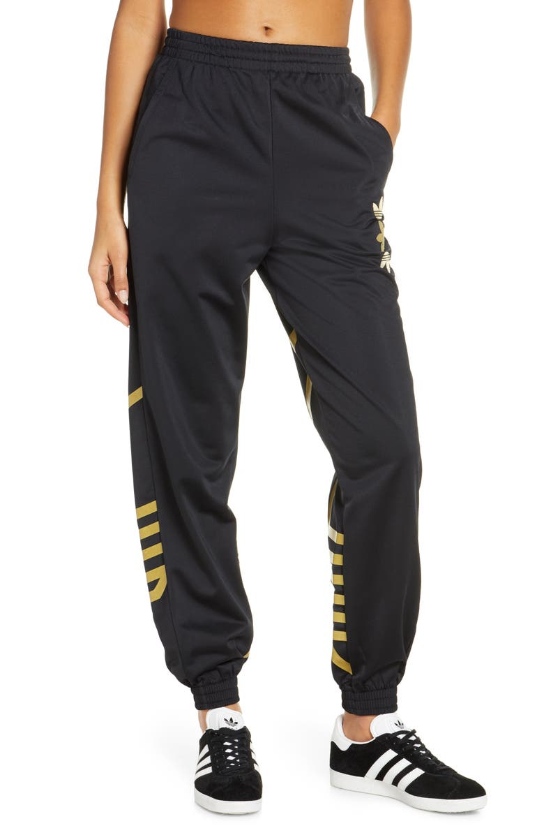 ADIDAS ORIGINALS adidas Large Logo Track Pants, Main, color, 001