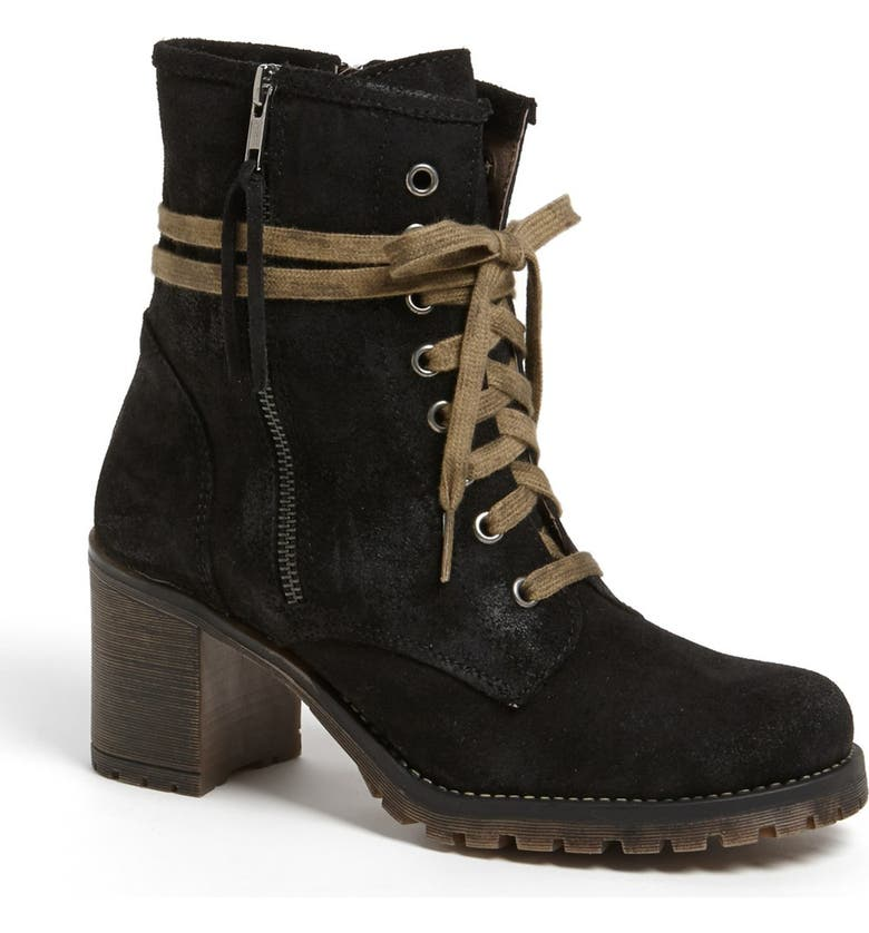 MTNG ORIGINALS 'Callie' Waxed Suede Boot, Main, color, 001