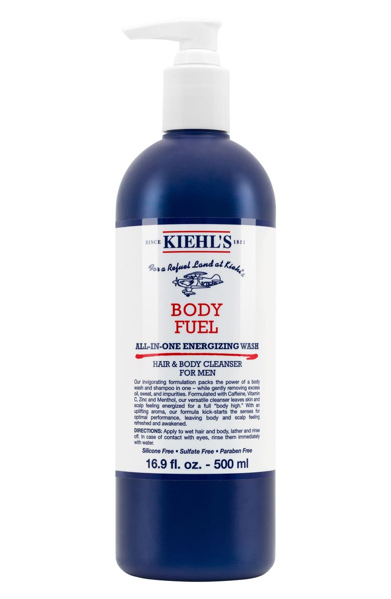 KIEHL'S SINCE 1851 Body Fuel All-in-One Energizing & Conditioning Wash, Main, color, No Color