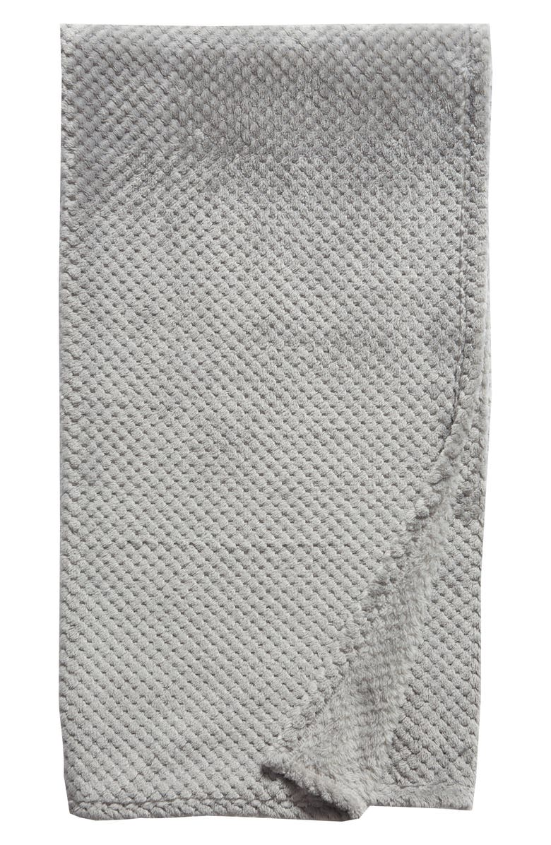 NORDSTROM at Home Waffle Plush Throw Blanket, Main, color, 020
