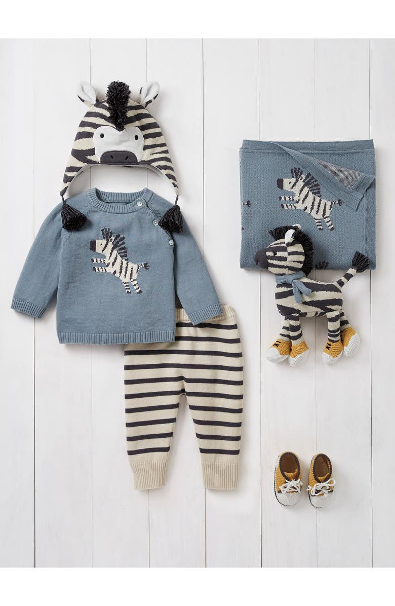 ELEGANT BABY Zebra Outfit, Blanket & Toy Set, Main, color, 445