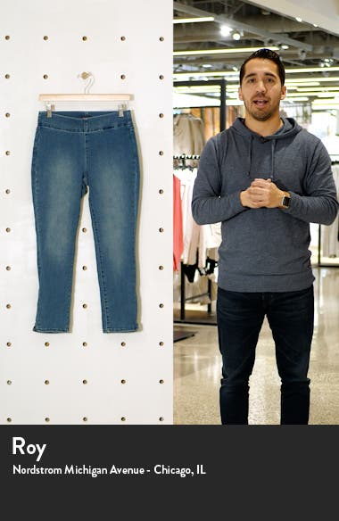 Skinny Ankle Pull-On Jeans, sales video thumbnail