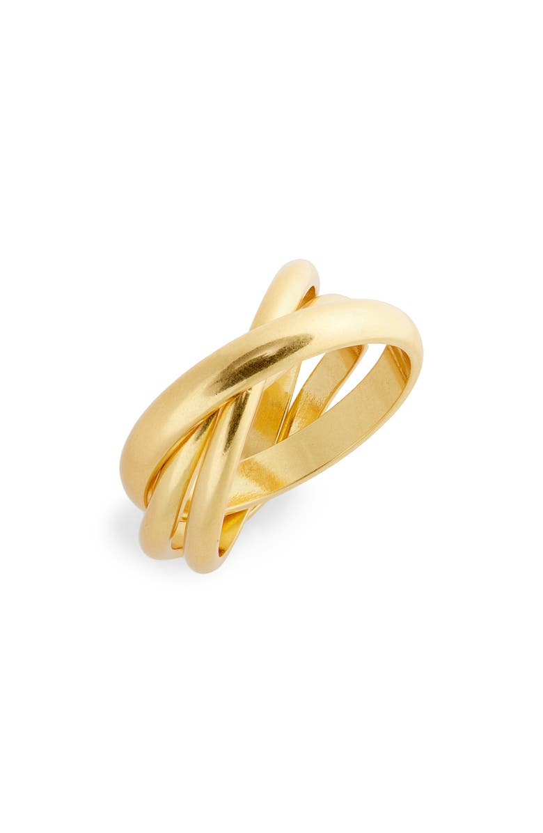 MADEWELL Roller Ring, Main, color, VINTAGE GOLD
