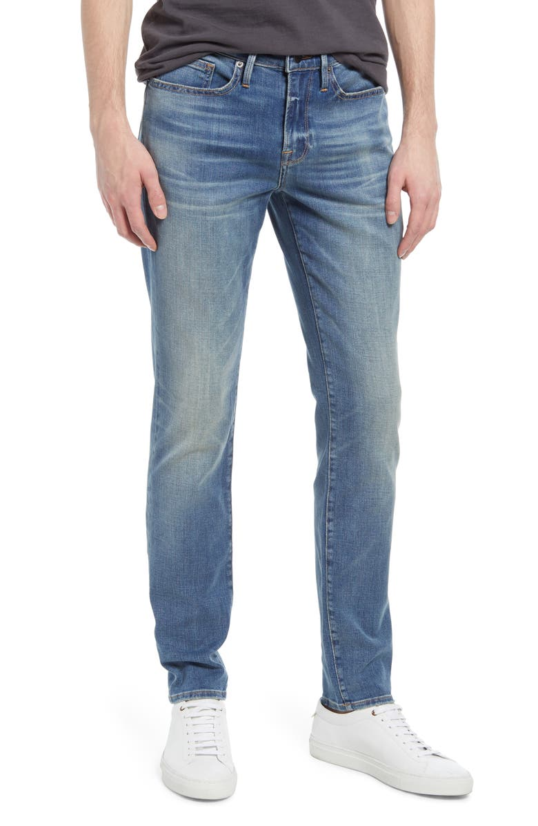 FRAME L'Homme Skinny Fit Jeans, Main, color, BUCKEYE