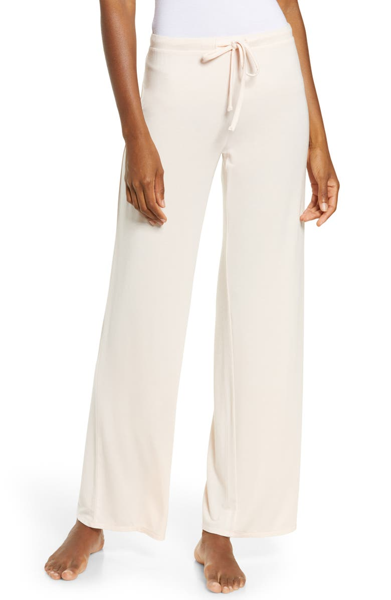 NORDSTROM Moonlight Pajama Pants, Main, color, PINK CREOLE