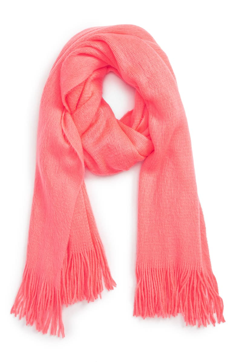 DAVID & YOUNG Neon Fringe Scarf, Main, color, 950