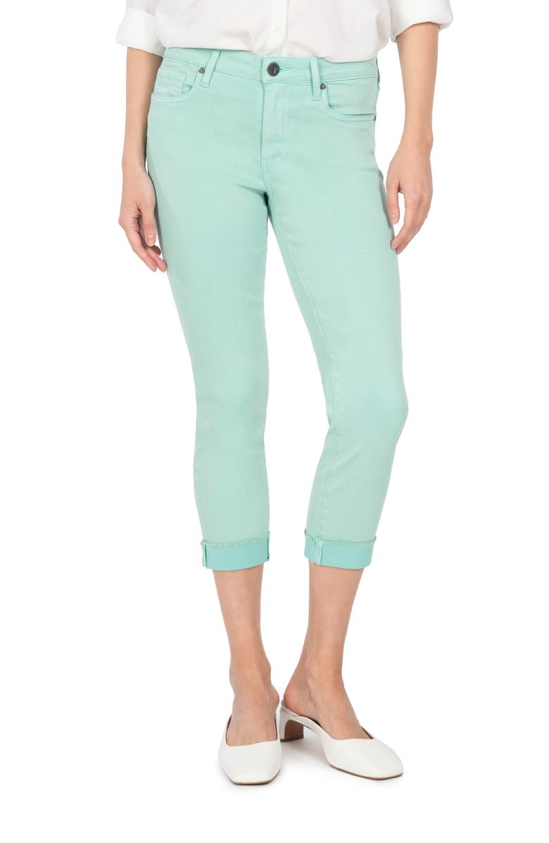 KUT FROM THE KLOTH Amy Fray Hem Crop Skinny Jeans, Main, color, MINT
