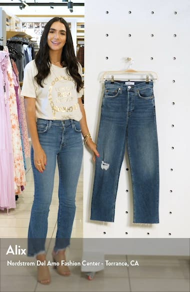 Originals High Waist Ankle Stovepipe Jeans, sales video thumbnail