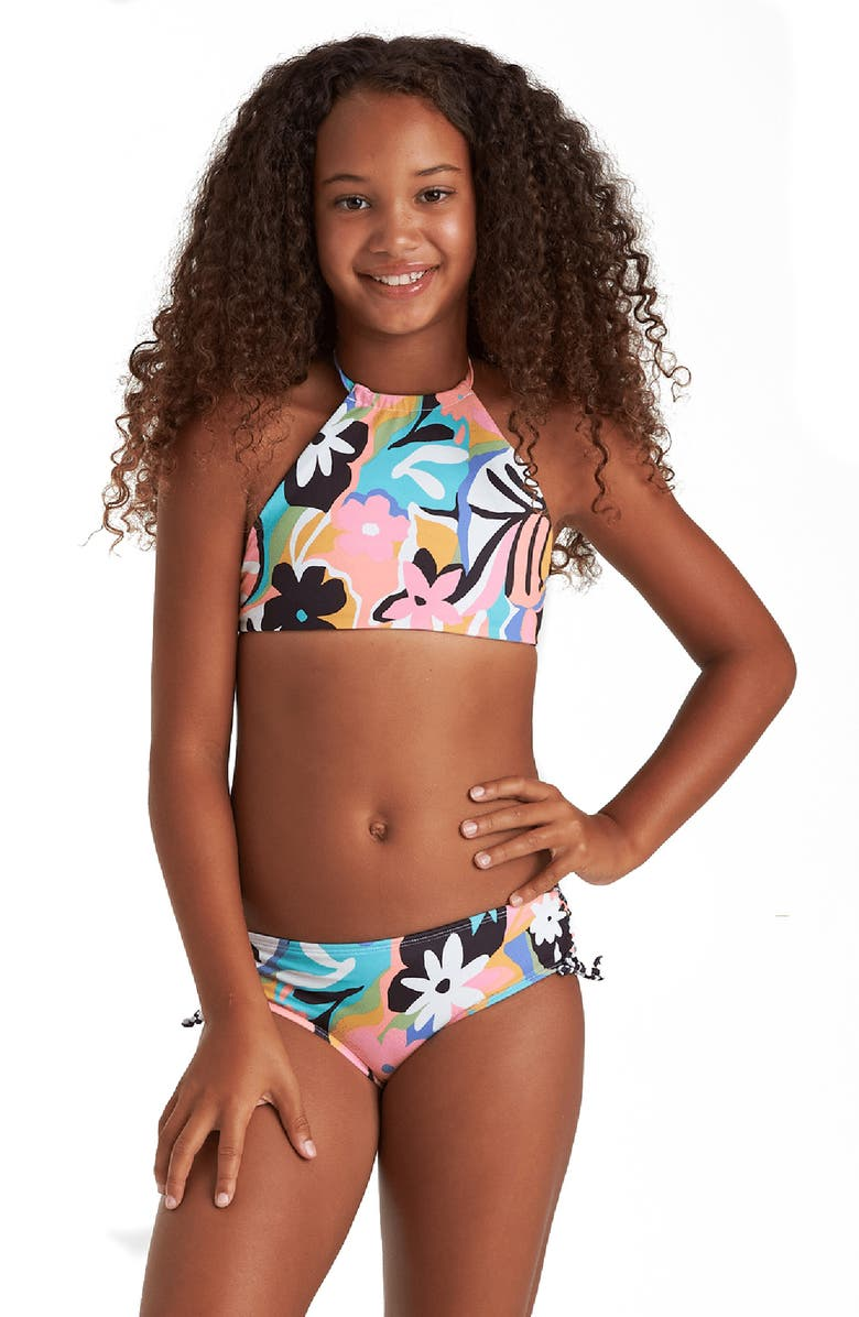BILLABONG On and On Reversible High Neck Two-Piece Swimsuit, Main, color, 400