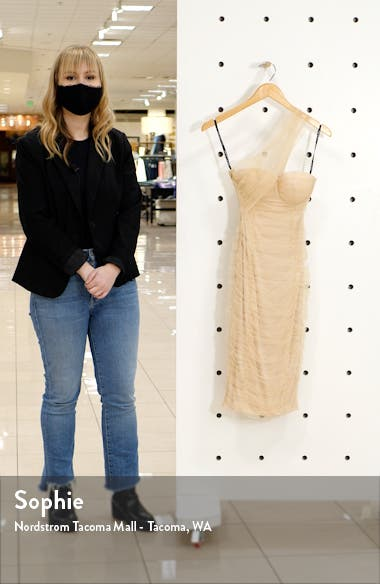 Ruched One-Shoulder Minidress, sales video thumbnail