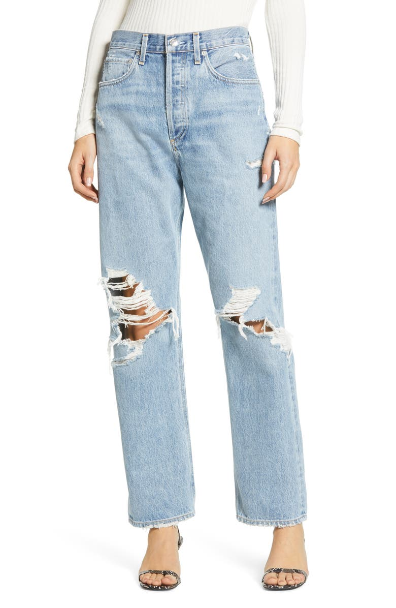 AGOLDE '90s Ripped Loose Fit Jeans, Main, color, FALL OUT