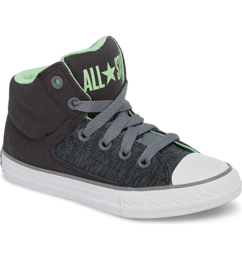 CONVERSE Chuck Taylor<sup>®</sup> All Star<sup>®</sup> High Street High Top Sneaker, Main, color, ALMOST BLACK