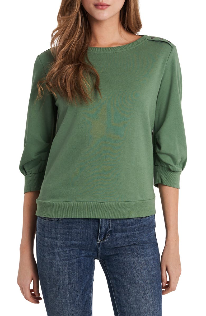 VINCE CAMUTO Puff Sleeve Top, Main, color, LUSH EDEN