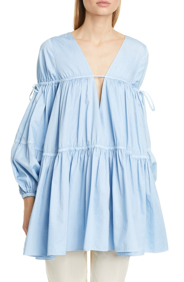 AJE Allegro Gathered Tunic Top, Main, color, 400