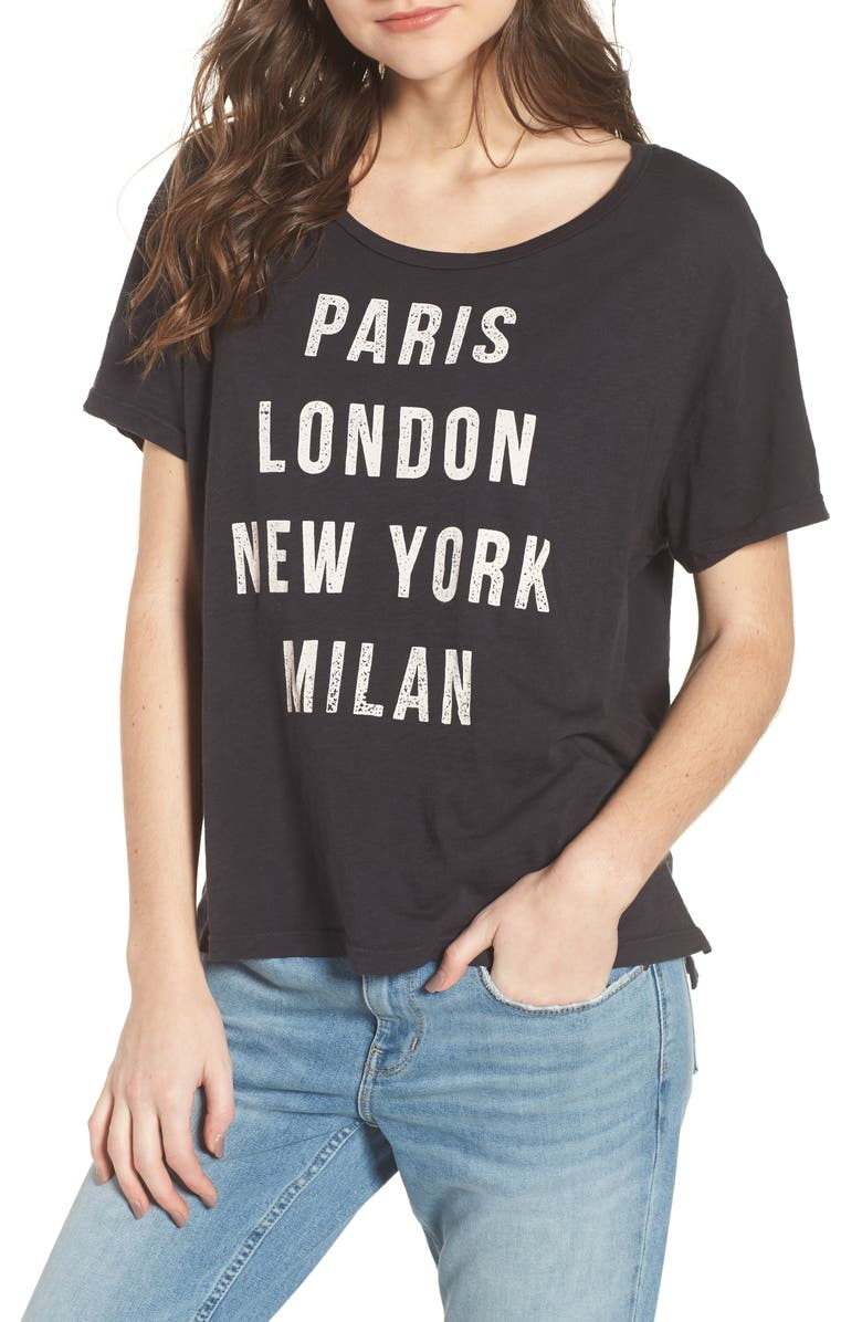 SUNDRY Runway Destinations Tee, Main, color, 001