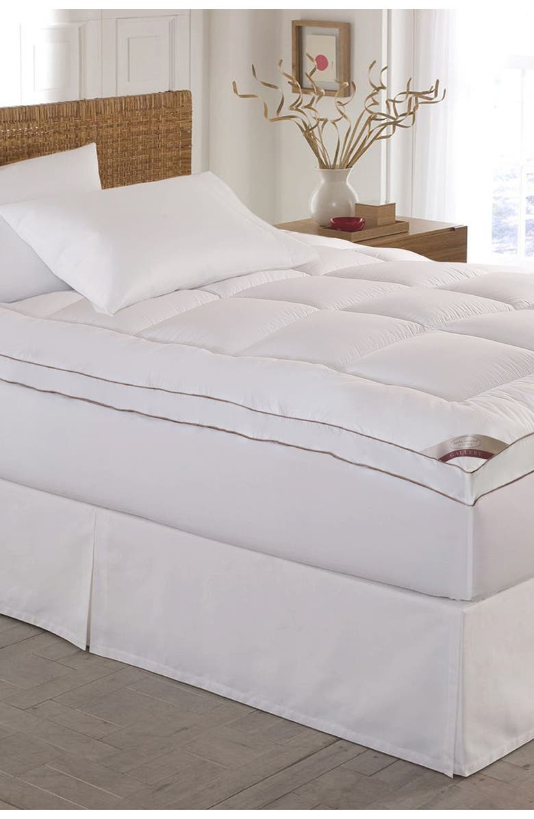 BLUE RIDGE HOME FASHIONS Kathy Ireland Cotton Gusseted Mattress Topper - Cal King, Main, color, WHITE