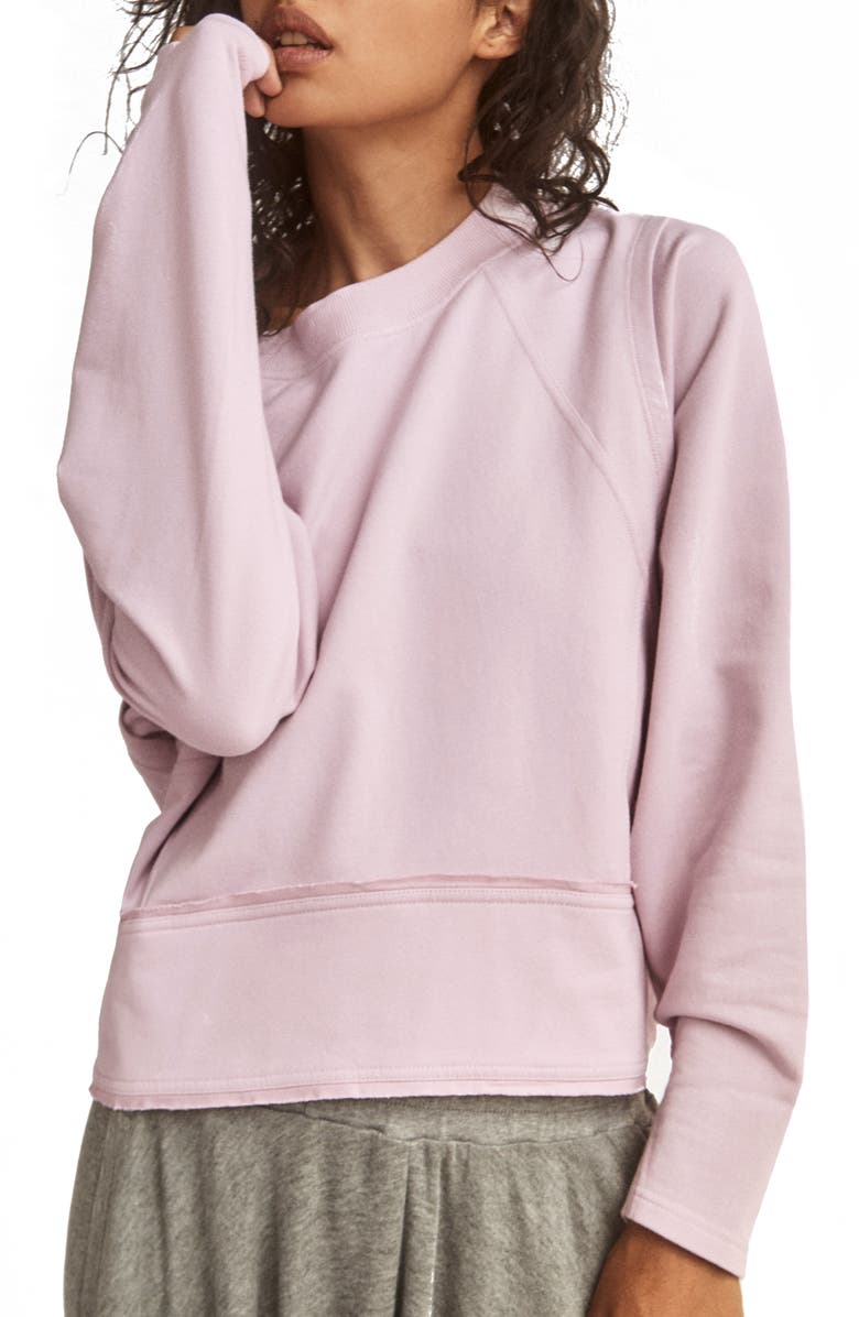 FREE PEOPLE FP MOVEMENT Where The Wind Blows Sweatshirt, Main, color, POWDERED LAVENDER