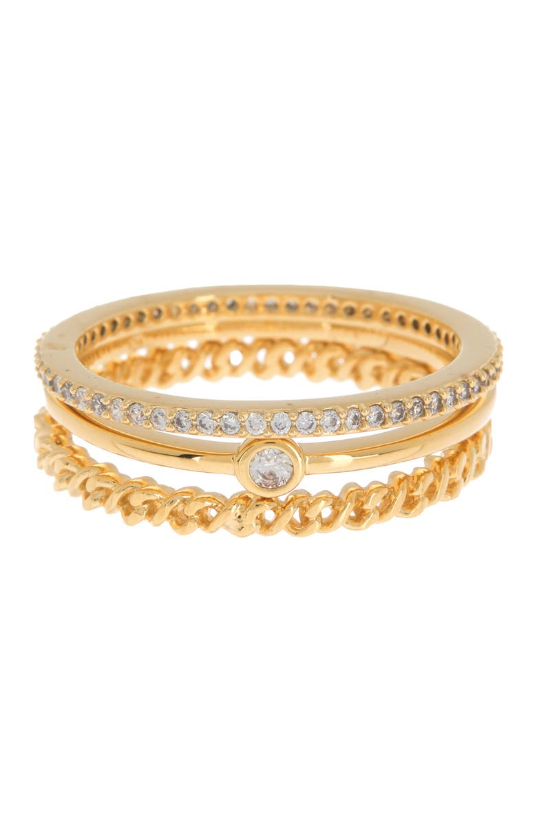NADRI Lynx Pave Stack Rings, Main, color, GOLD