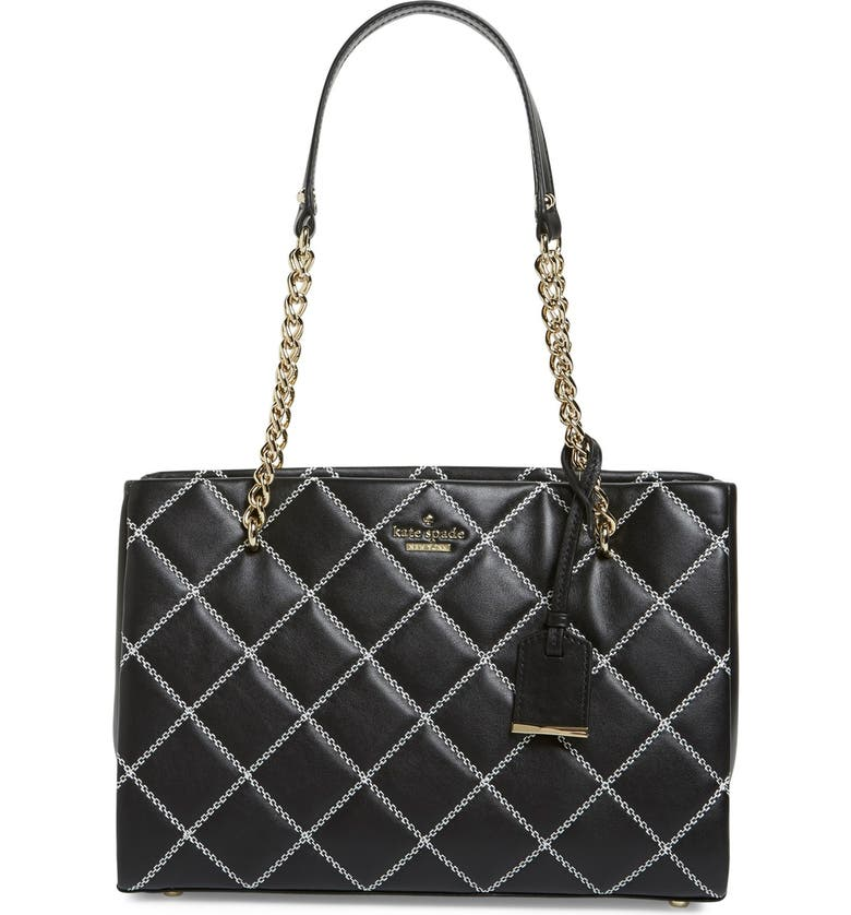 KATE SPADE NEW YORK 'emerson place - small phoebe' quilted leather shoulder bag, Main, color, 001