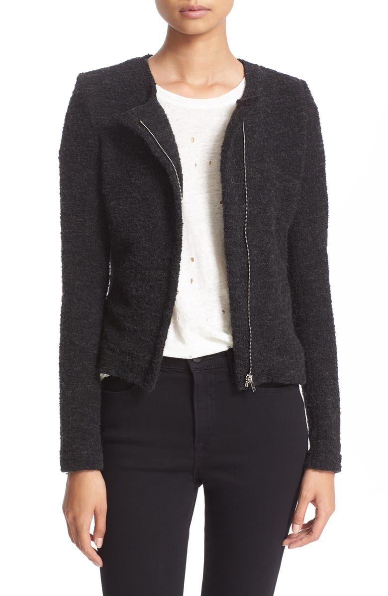 IRO Asymmetrical Zip Knit Jacket, Main, color, 023