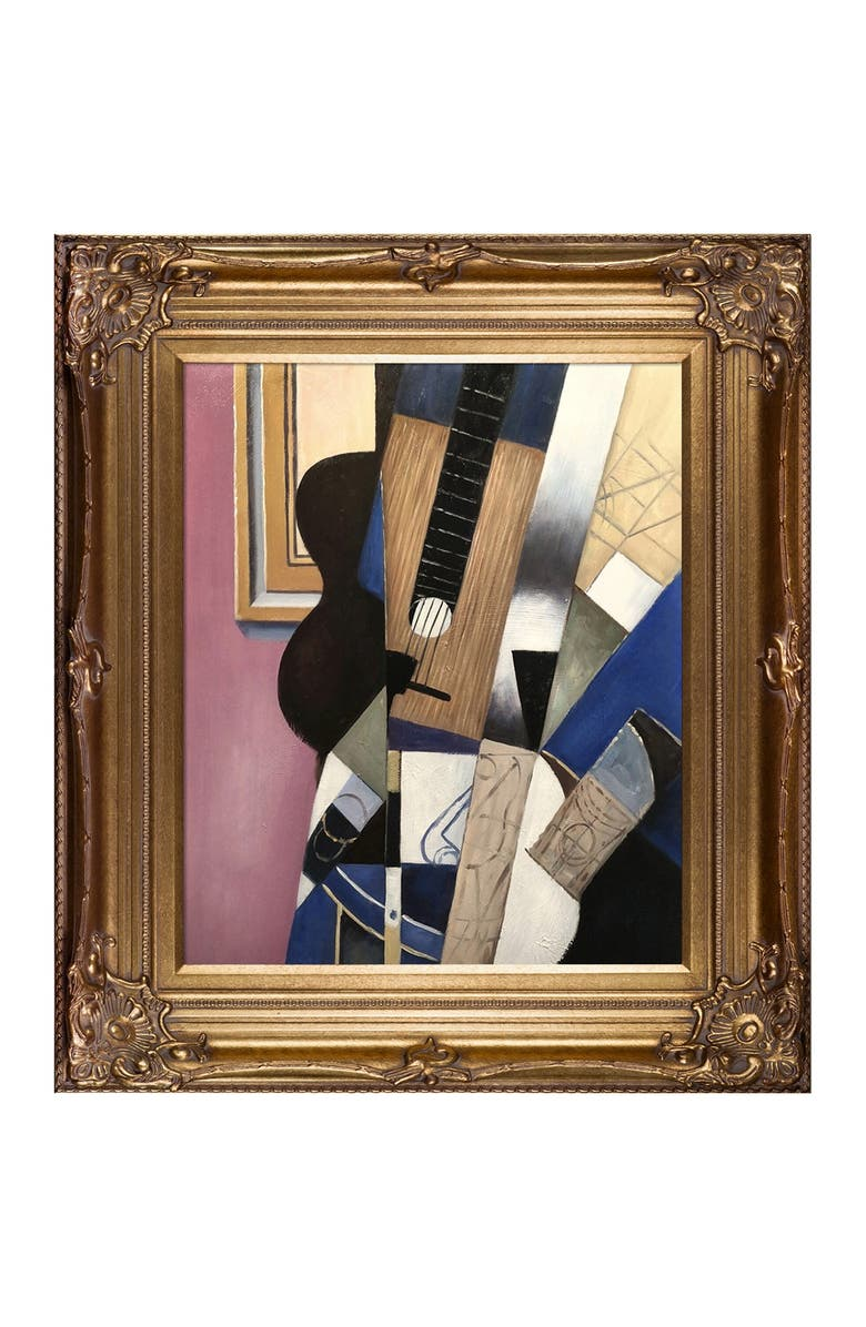 OVERSTOCK ART Guitar and Pipe - Framed Oil Reproduction of an Original Painting by Juan Gris, Main, color, MULTI