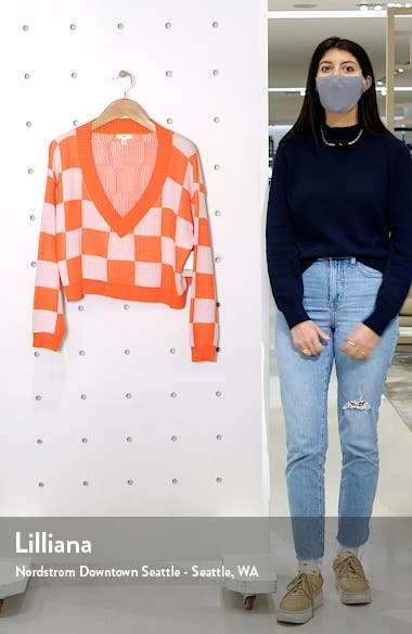 Checker Crop Sweater, sales video thumbnail