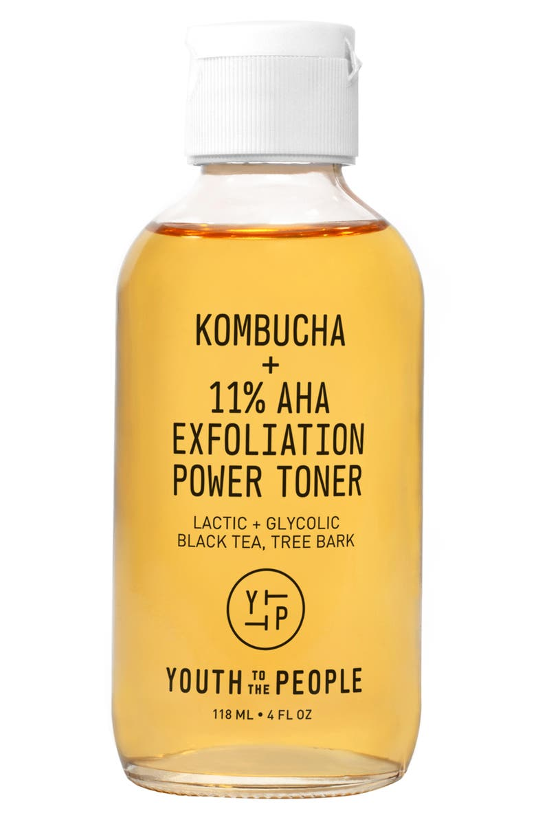 YOUTH TO THE PEOPLE Kombucha + 11% AHA Exfoliation Power Toner, Main, color, No Color