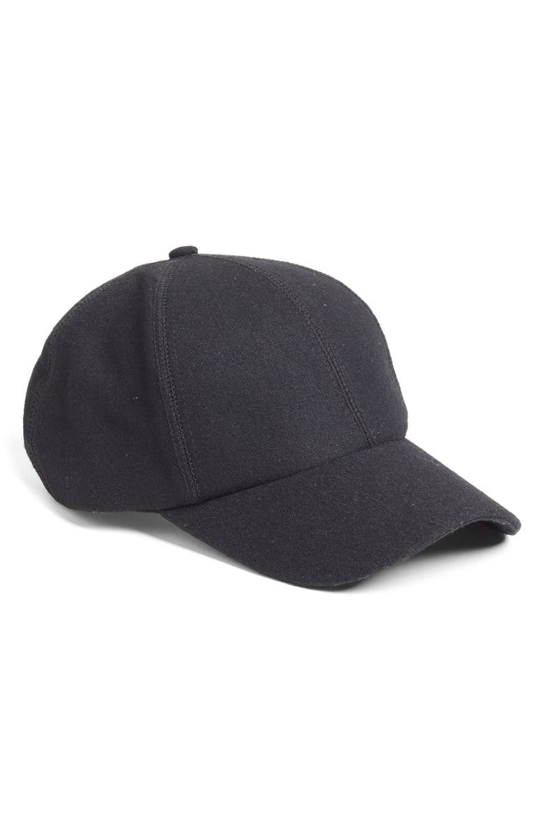 PHASE 3 Melton Wool Baseball Cap, Main, color, 001