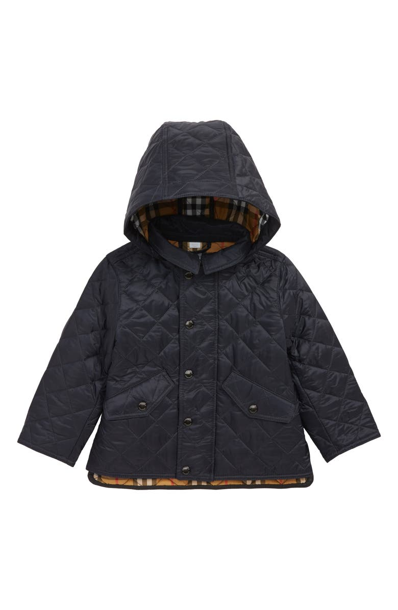 BURBERRY Ilana Quilted Water Repellent Jacket, Main, color, 400