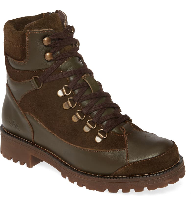 BOS. & CO. Cooper Waterproof Hiking Boot, Main, color, OLIVE NATURE/ SUEDE