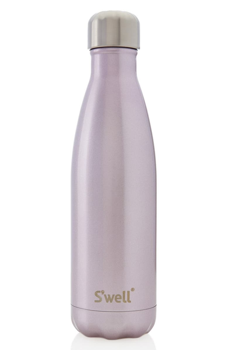 S'WELL 'Pink Champagne' Stainless Steel Water Bottle, Main, color, 650