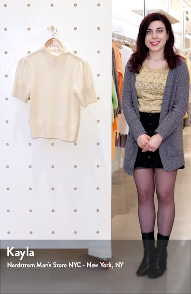 Annabelle Short Sleeve Cashmere Sweater, sales video thumbnail