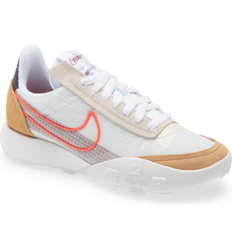 NIKE Waffle Racer 2X Sneaker, Main, color, WHITE/ BRIGHT CRIMSON/ RED