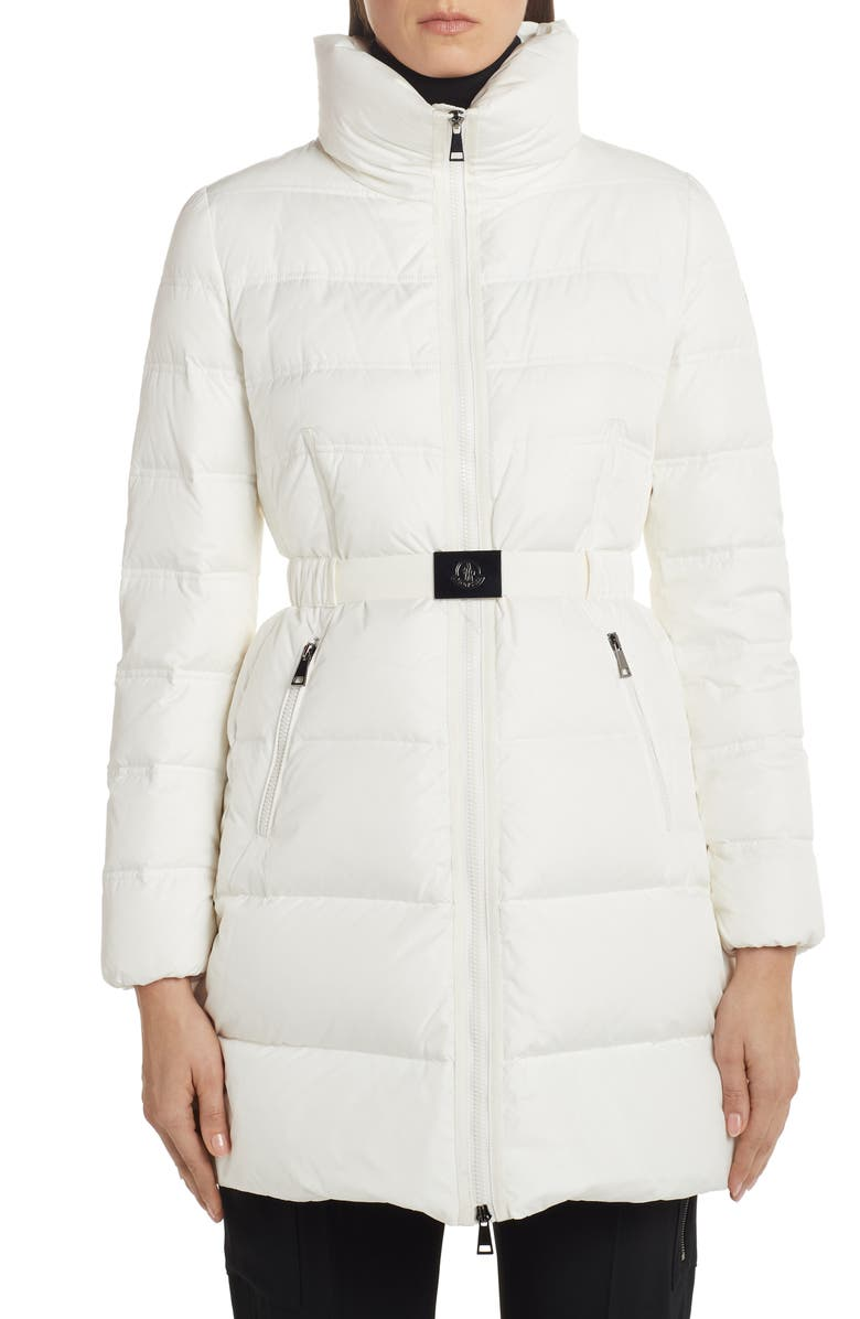 MONCLER Accenteur Belted Quilted Down Puffer Coat, Main, color, 101