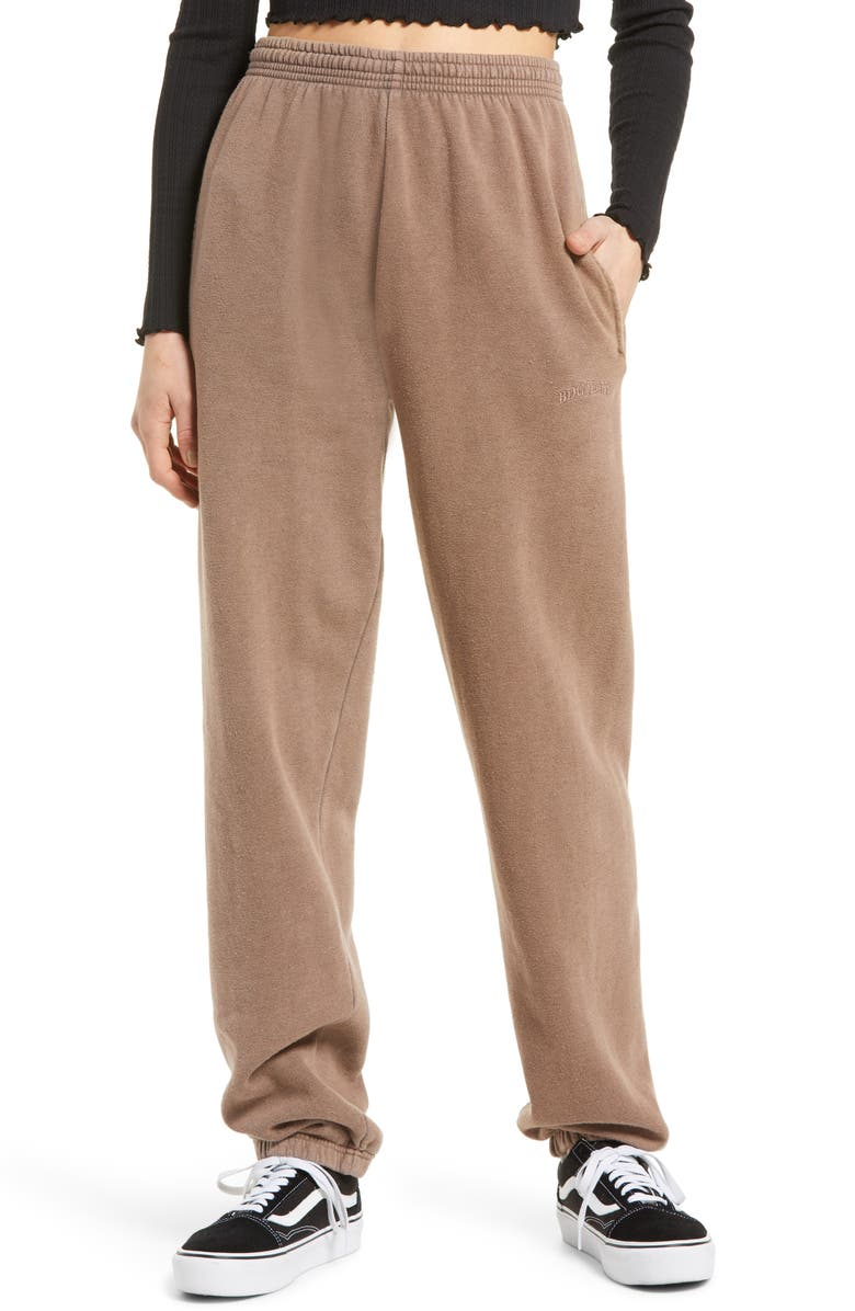 BDG URBAN OUTFITTERS Joggers, Main, color, CHOCOLATE
