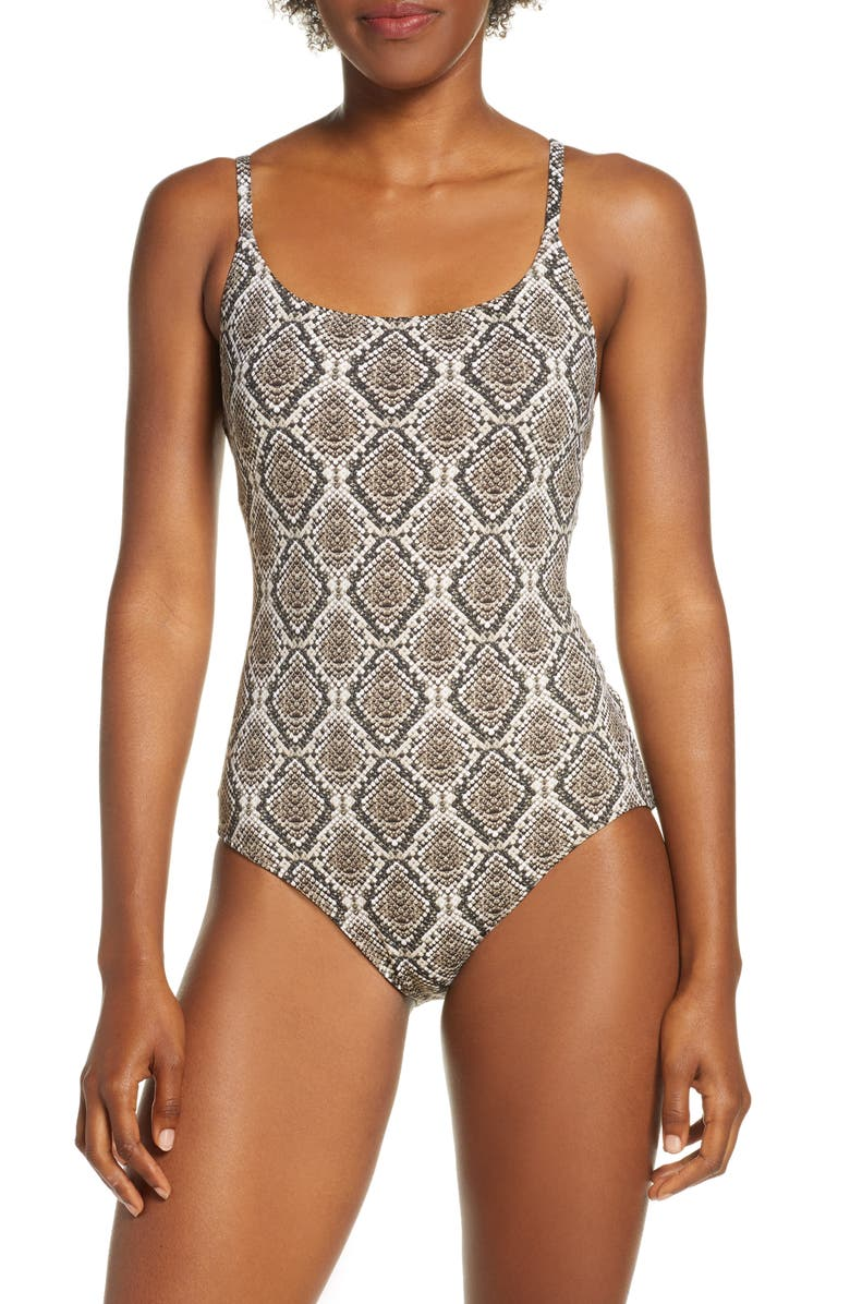 TOMMY BAHAMA Desert Python One-Piece Swimsuit, Main, color, 200