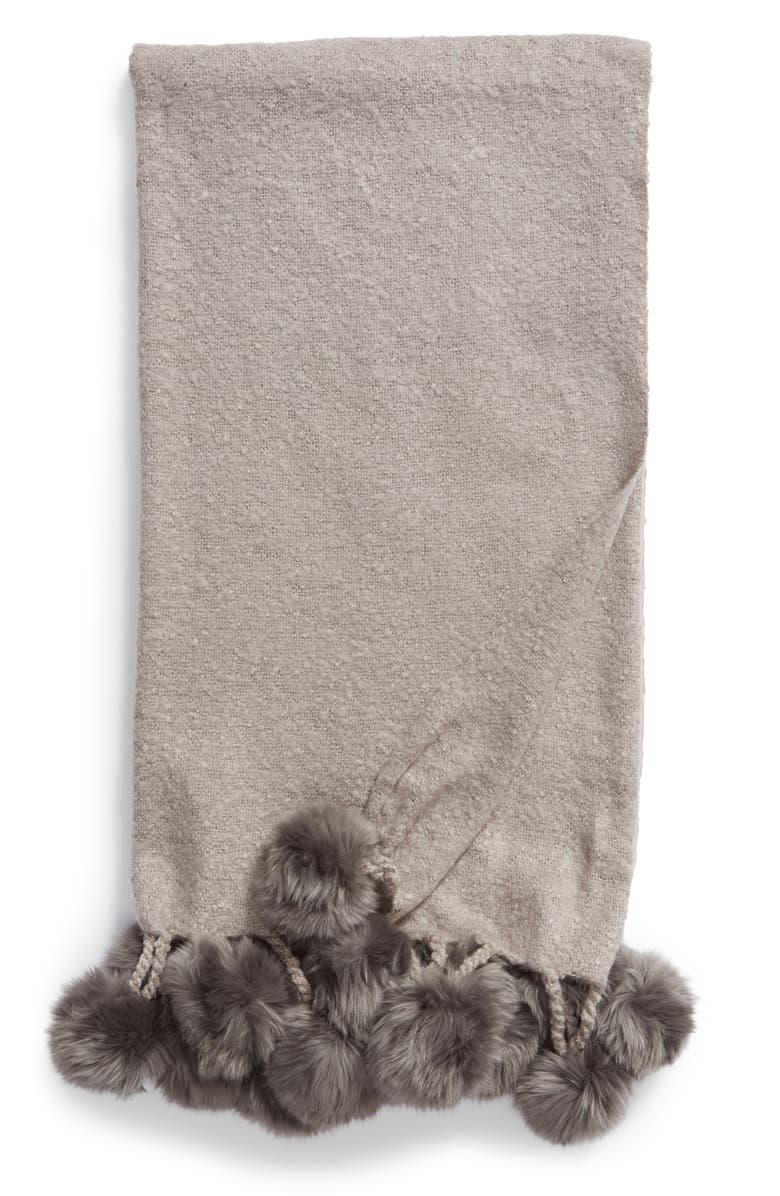 NORDSTROM at Home Faux Fur Throw, Main, color, 022