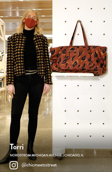 The (Re)sourced Painted Leopard Weekend Bag, sales video thumbnail