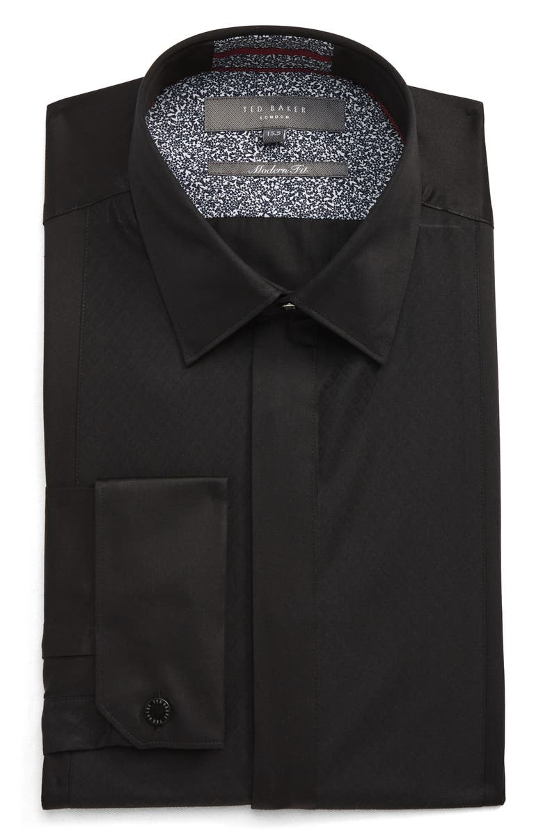 TED BAKER LONDON Modern Fit Solid Dress Shirt, Main, color, 001
