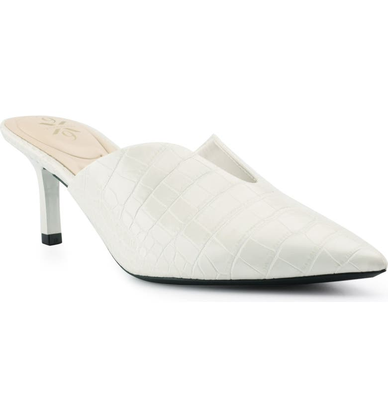 NINE WEST Kapps Pointed Toe Mule, Main, color, IVORY CROCO