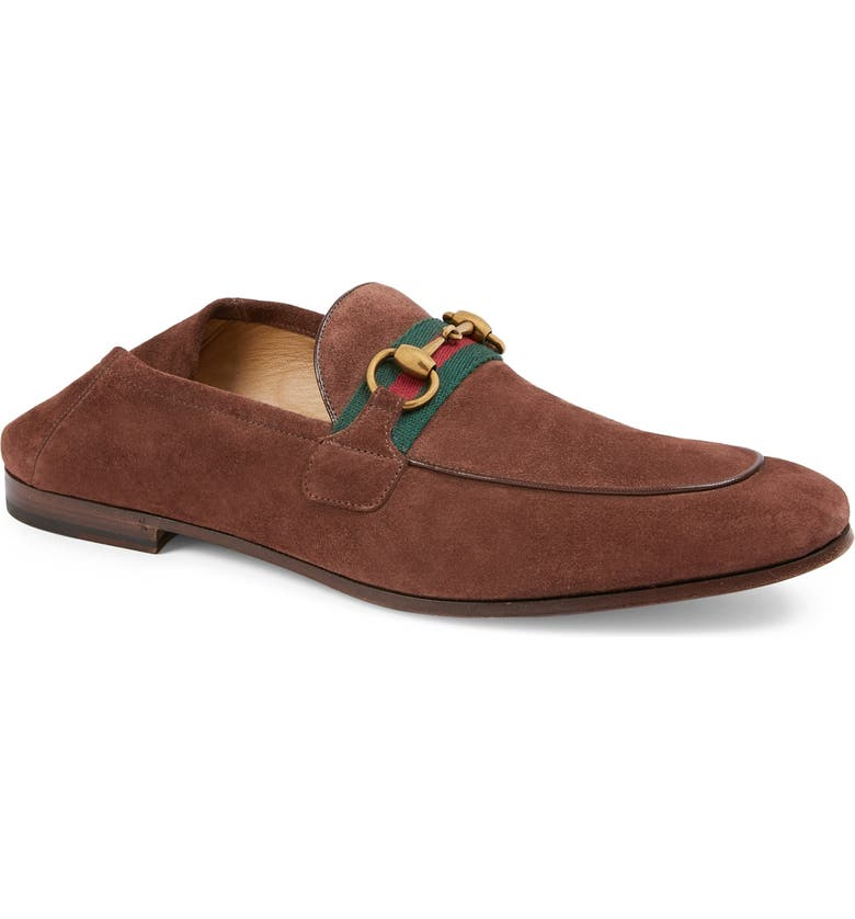 GUCCI Brixton Horsebit Convertible Loafer, Main, color, LIGHT BROWN/ BROWN