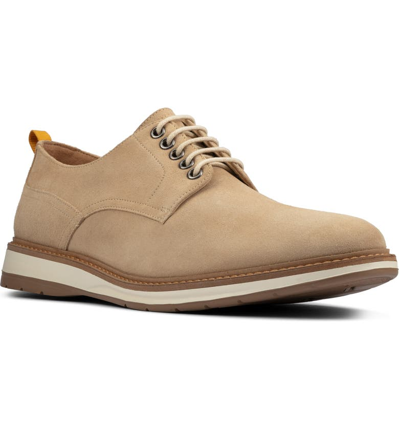 CLARKS<SUP>®</SUP> Chantry Plain Toe Derby, Main, color, TAUPE SUEDE