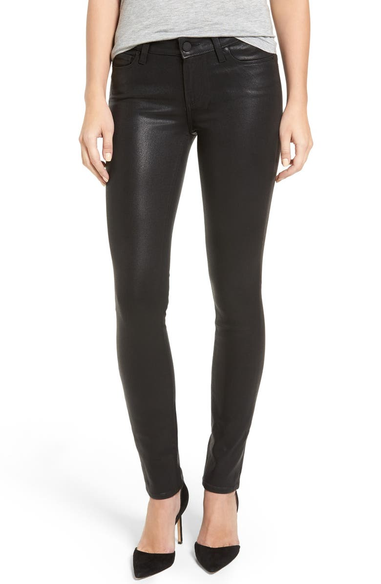 PAIGE Verdugo Coated Ankle Skinny Jeans, Main, color, 001