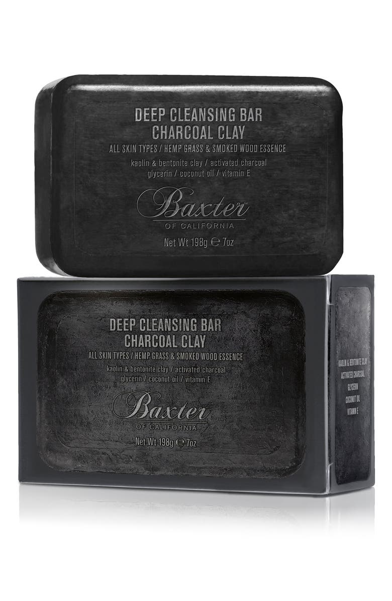 BAXTER OF CALIFORNIA Deep Cleansing Charcoal Clay Bar Soap, Main, color, NO COLOR