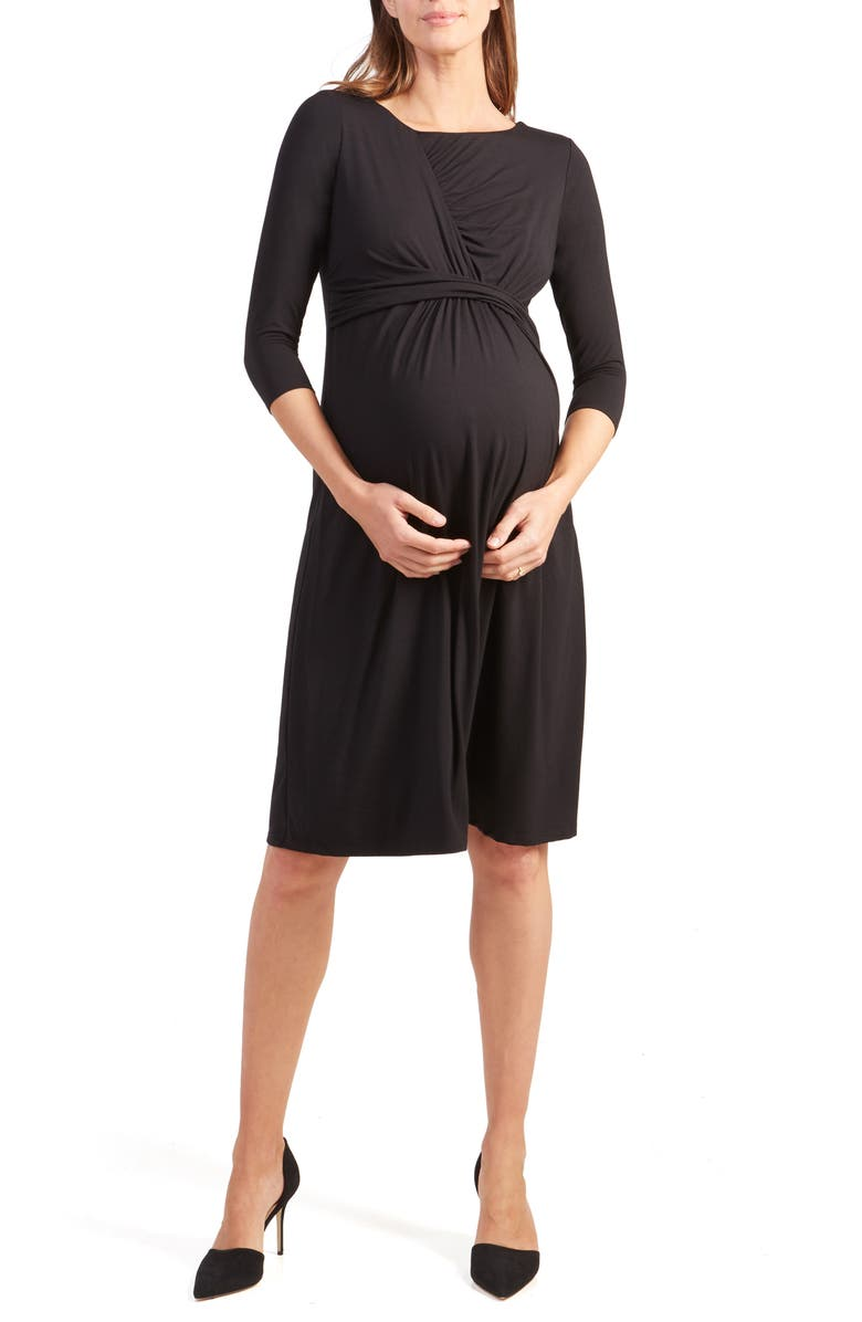 INGRID & ISABEL<SUP>®</SUP> Maternity Fit & Flare Dress, Main, color, 001