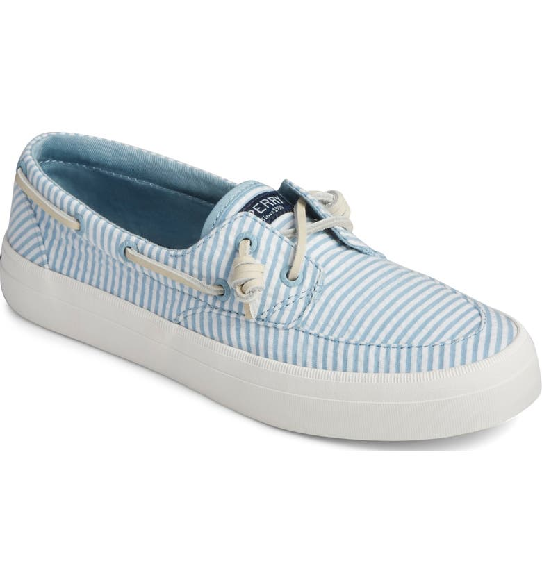 SPERRY Crest Boat Sneaker, Main, color, BLUE/ WHITE FABRIC