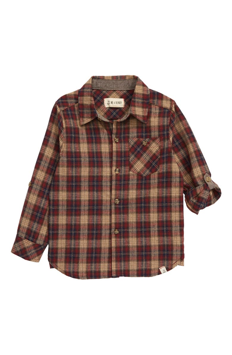 ME & HENRY Plaid Button-Up Shirt, Main, color, 930